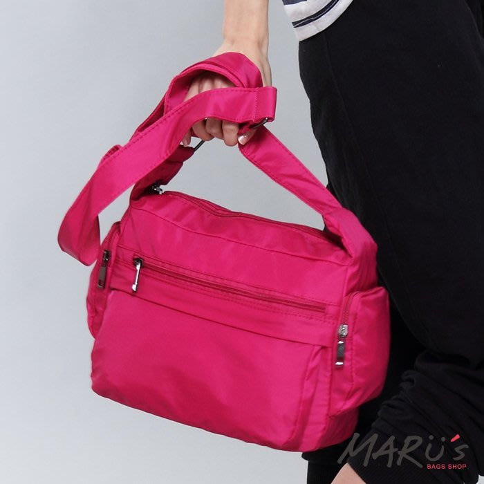MARU`S BAGS SHOP 素面尼龍多功能收納斜背包[TG-068]樂天  口金包