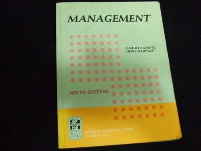 管理學原文書 Management -Heinz Weihrich(swot矩陣創始人)(特價99元)
