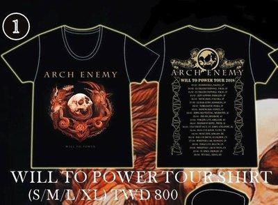 【搖滾帝國】ARCH ENEMY 2018年巡迴T恤(S)