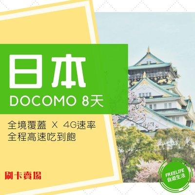 【刷卡賣場】日本上網卡 DOCOMO 8天 真高速4G 不降速吃到飽 SIM卡 網卡 WIFI 新登場