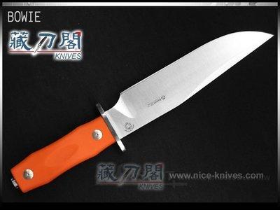 《藏刀閣》Maserin-(BOWIE)波伊刀-G10橘色握柄