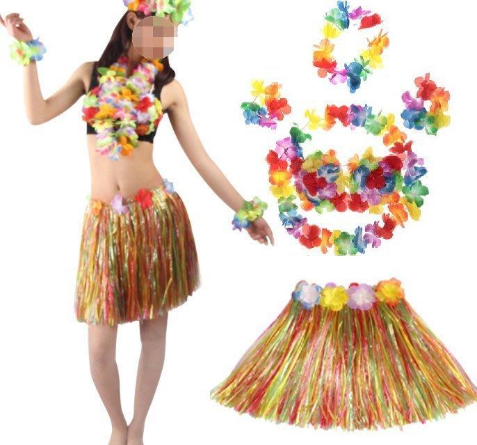 ((麻辣館))新款上市0308款40cm套裝夏威夷草裙舞~服裝表演