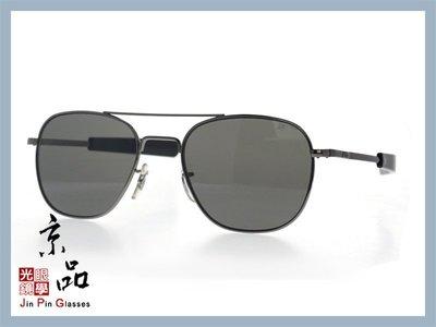 【美國AO】飛官太陽眼鏡 OP 55mm B.BA.CC 鐵灰 黑色框 灰色樹酯鏡片 公司貨 京品眼鏡 JPG 京品眼鏡