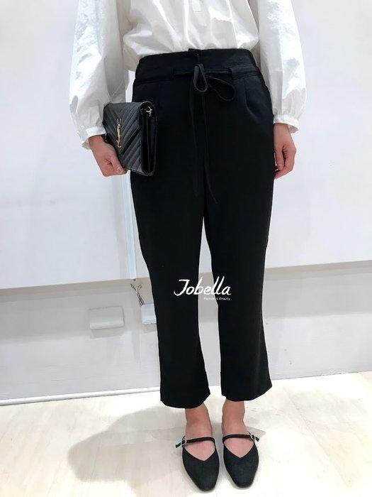 ✽JoBella 韓國空運 韓國代購✽韓貨✽ 前綁繩後鬆緊西裝褲 現貨+預購