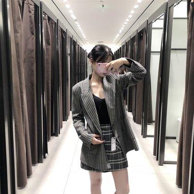 【Strawberry】2018秋冬新品 女士肘部裝飾格紋西裝外套 08095678518