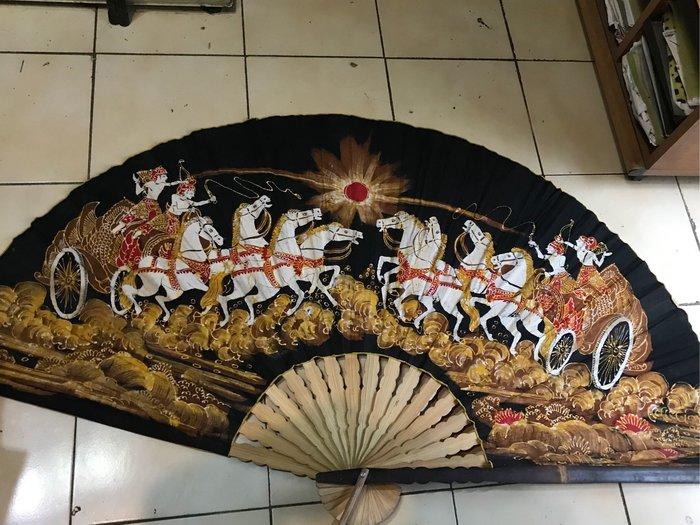 印尼大布扇 二手收藏 展開寛150cm x高80cm 重0.8公斤