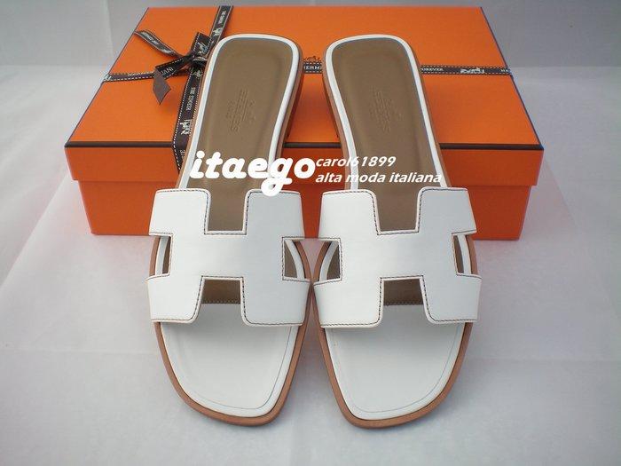 *小米蘭* HERMES ORAN H基本款1cm平底鞋 ORO IMPUTURE ECRU 白色 代購
