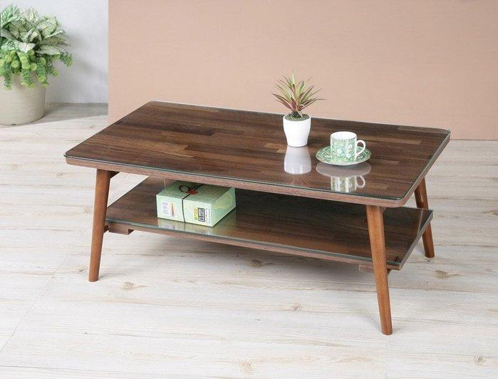 中華批發網:可摺腳茶几桌(穩固不搖晃送玻璃) 和室桌 玻璃桌 免組裝-TA9536-2G(胡桃木色)