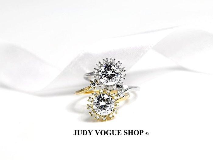 韓國 戒指 璀璨之心戒指 花瓣戒指 鋯石戒指 JUDY VOGUE SHOP【JRI-0008】