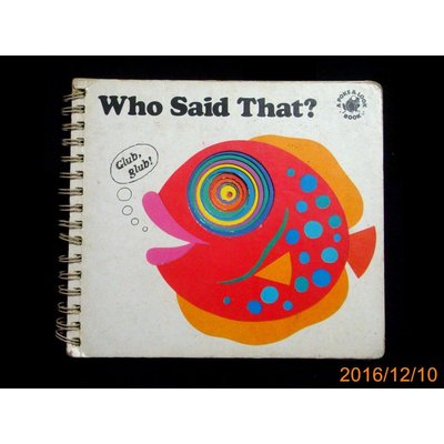 【9九 書坊】洞洞書 Who Said That ?│A POKE & LOOK BOOK│英文版
