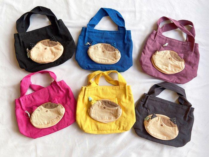 日本卡拉貓~點點耳Gon醬立體口袋小手提包