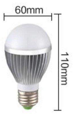 5WLED燈泡 品質超越旭光 億光 OSRAM 飛利浦高亮款LED燈泡 鋁質散熱 5W 裝螢光開關不會有閃光或微亮現象