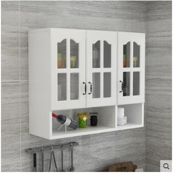 定制牆上廚房吊櫃掛牆式現代簡約牆壁櫃儲櫃置架陽臺牆櫃掛櫃   全館免運