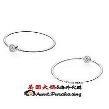 美國大媽代購 pandora 潘朵拉 迪士尼 新款鑲鑽玟瑰花紀念手環 925純銀 Charms 美國正品代購