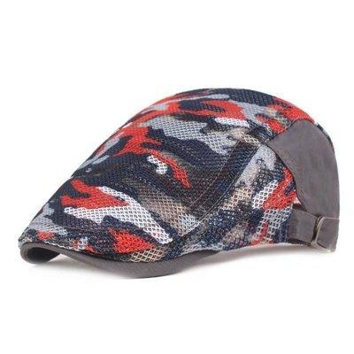 (台灣現貨)迷彩透氣紗網前進帽.小偷帽.打鳥帽.鴨舌帽,可調整男女鴨舌帽(W384)