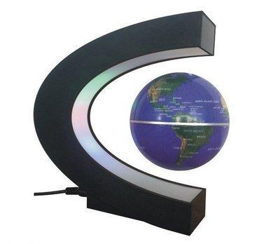 熱銷家居擺件品 磁懸浮C形3寸中文版英文版地球儀 外貿禮品 57