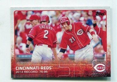 2015 Topps Series 1 #277 Cincinnati Reds 紅人隊