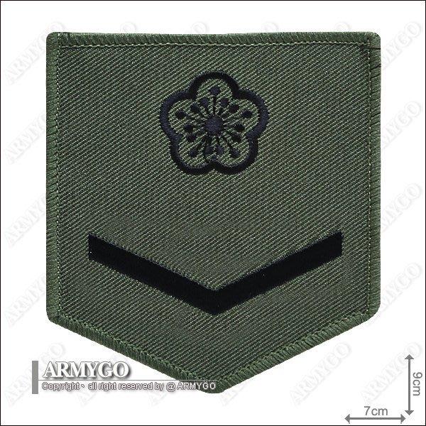 【ARMYGO】陸軍士兵階級臂章 (綠框)