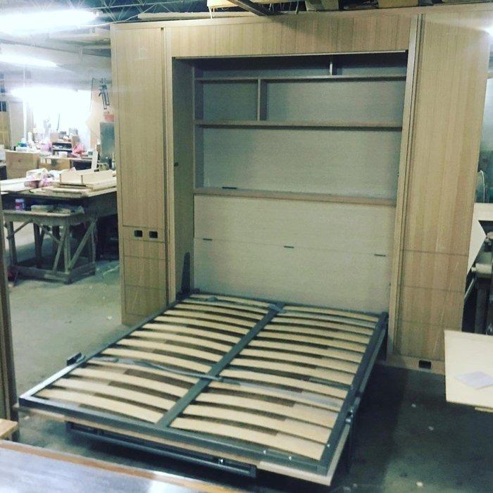 【順發傢俱】收納式床架,餐桌  半成品 全訂製