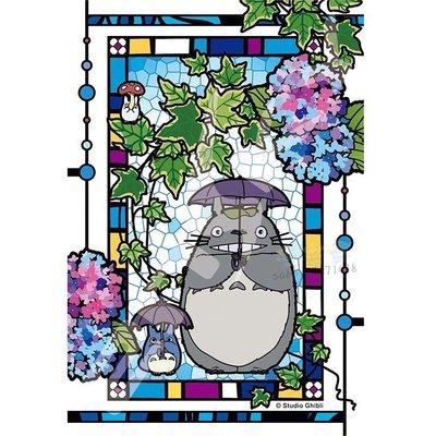 JP購✿17060600005 日本製迷你透光琉璃拼圖-紫陽花庭園 宮崎駿 龍貓 TOTORO 琉璃 水晶 拼圖 桌遊