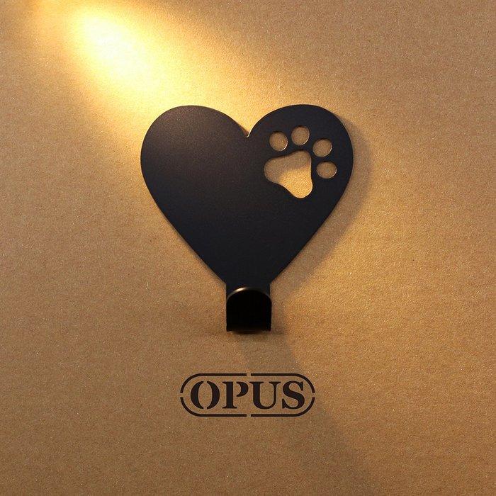 當貓咪遇上符號heart《經典黑》壁飾掛勾 造型無痕掛鉤 牆面壁掛【OPUS東齊金工】HO-nb12-heart(B)