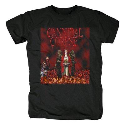 CANNIBAL CORPSE食人尸死亡殘暴極端金屬搖滾朋克時尚封面紀念T恤