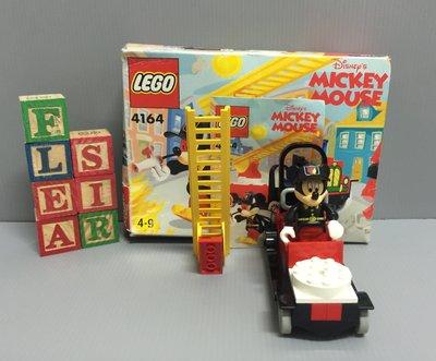 【FleaSir】出清特賣 迪士尼 米老鼠米奇 樂高 LEGO 4164 雲梯消防車  A20