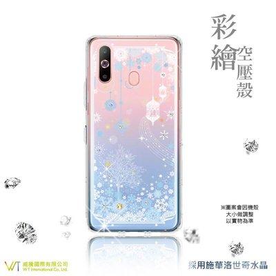 【WT 威騰國際】WT ® Samsung Galaxy A8s 施華洛世奇水晶 彩繪空壓殼 軟殼 -【映雪】
