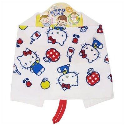 (現貨)全棉 約47x25cm 3Way 抗菌除臭 紗布 毛巾 循環按扣 Sanrio Hello Kitty 吉蒂貓 日本直送 全新品