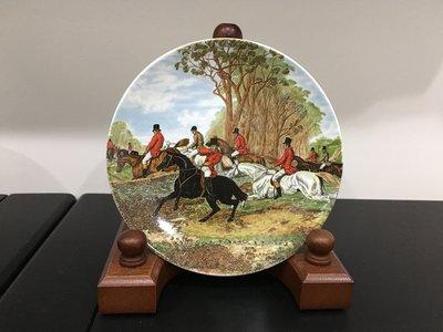 【達那莊園】Regency攝政 hunting scene狩獵場景 英國製骨瓷器 下午茶咖啡 手工彩繪盤