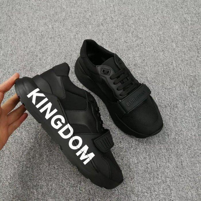 「限時折扣」 BURBERRY 秋冬新款 KINGDOM運動鞋  尺寸:35 35.5 36 36.5