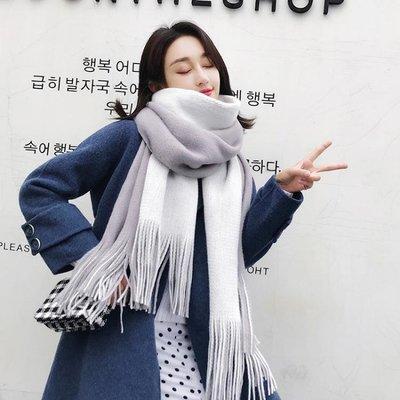 圍巾絲巾 圍巾絲巾女冬季韓版新款百搭長款加厚披肩兩用軟妹學生針織毛線圍脖冬
