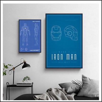 日本製油畫布 電影海報 鋼鐵人 設計圖 Iron Man 掛畫 無框畫 @Movie PoP 賣場多款海報~