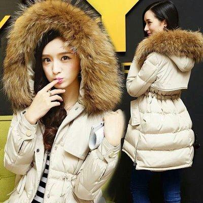 【🔥暖炸爆修身實拍🔥】大毛領 羽絨長版外套 💯無敵修身外套 連帽外套 ⛇☃東北下雪國家冬天可以穿【S~XL】
