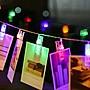 室內裝飾LED夾子小燈串 電池 (1.5米10燈)【...