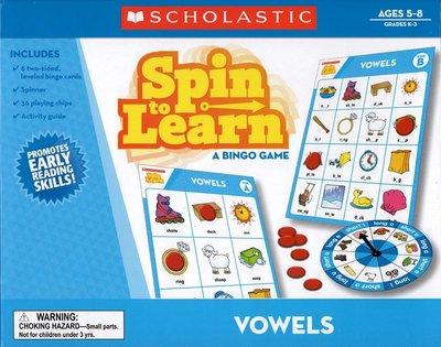 *小貝比的家*SPIN TO LEARN VOWELS/桌遊/3~6歲