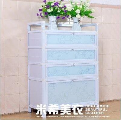 簡約鋁合金鞋櫃鋼化玻璃陽台防曬防水簡易加厚組裝室外走廊經濟型ATF  限時免運