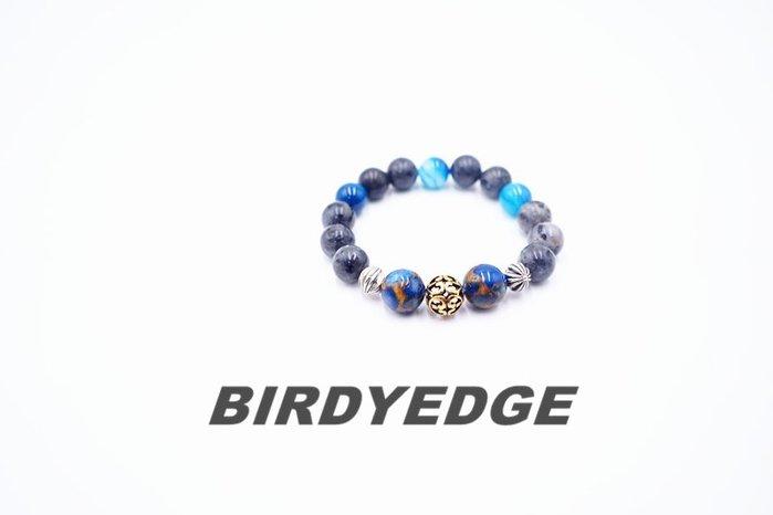 BIRDYEDGE 尼泊爾湖 灰色系限量麻腦 潮流手環 終身保固維修
