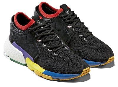 =CodE= ADIDAS P.O.D 3.1 X SOCIAL STATUS 襪套慢跑鞋(黑彩虹) F34324 預購