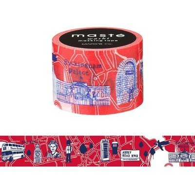 【R的雜貨舖】紙膠帶分裝 MARK'S maste和紙膠帶-ロンドンマップ 倫敦地圖