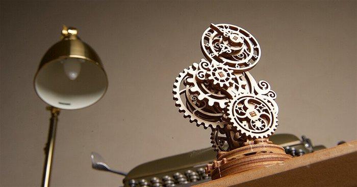 Ugears 蒸氣龐克鐘 Steampunk Clock 簡單精密的齒輪結構 烏克蘭 時鐘 UGEARS