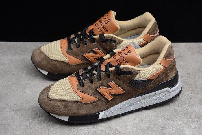 美國製 New Balance 998 新百倫 NB 美產 麂皮 茶色 咖啡棕 反光 休閒 慢跑 男鞋 M998XAD