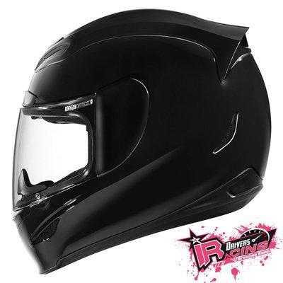 ♚賽車手的試衣間♚ Icon® Airmada Gloss Black 美國 復古 街頭 越野 重機 全罩 安全帽