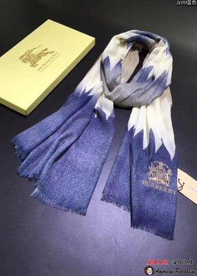 美國大媽代購 Burberry 巴寶莉 高貴典雅漸層圖層 時尚品味保暖披肩 圍巾 美國outlet代購