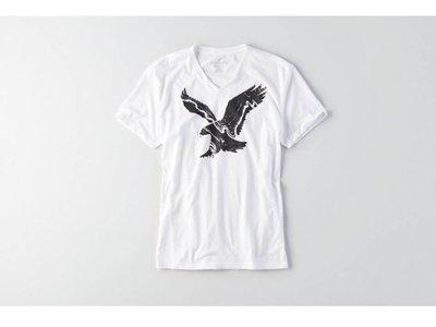 美國正品 AMERICAN EAGLE (AE) 男 白色V領 短袖T / XL ( 編號 24790404 )