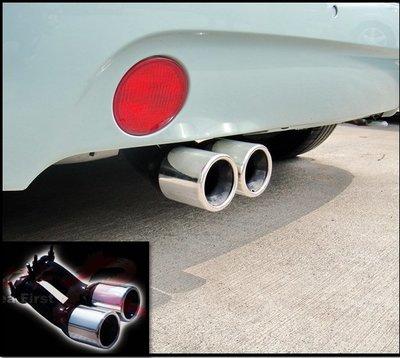 圓夢工廠 VW 福斯 Beetle 金龜車1999~2005 改裝 超質感 鍍鉻金屬尾管 排氣管 尾飾管 附螺絲配件