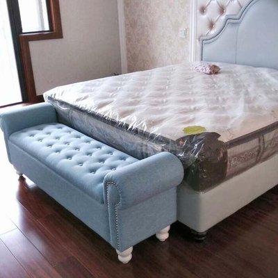 收納沙發椅美式沙發時尚儲物收納床尾床邊換鞋凳子歐式創意簡約現代貴妃椅榻推薦xc