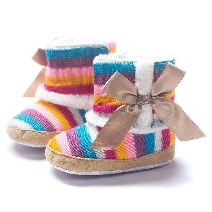 寶貝倉庫~蝴蝶結保暖雪鞋~學步鞋~布底鞋~寶寶鞋~嬰兒鞋~棉鞋~靴子~螃蟹車~彌月送禮~促銷價1雙127