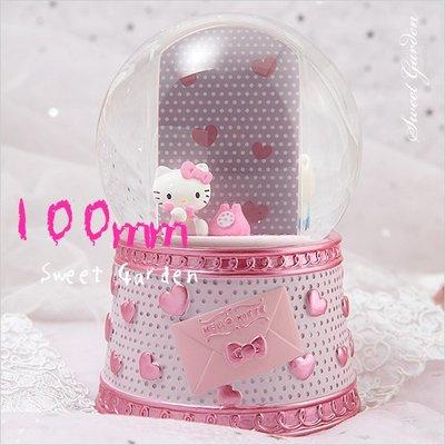 Sweet Garden, Hello Kitty 思念相框音樂水晶球(免運) 電話熱線情話綿綿 粉紅愛心情書 送女朋友