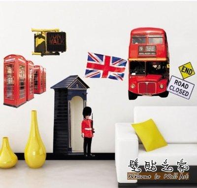 壁貼 ☆壁貼之家☆三代3L 80*65公分【倫敦巴士 JM 8220 】可重複不傷牆 壁貼 送刮板+水平儀 新竹市